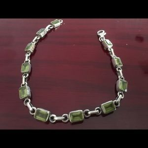 Jewelry - Peridot and sterling silver bracelet